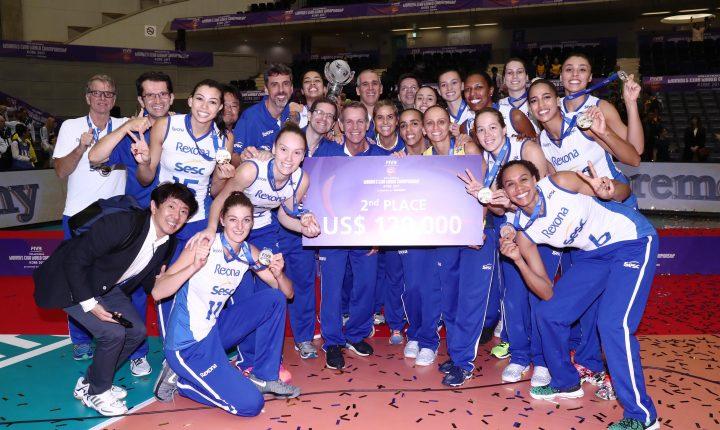 Rio é vice no mundial de clubes de vôlei feminino; Osasco fica em 6º lugar