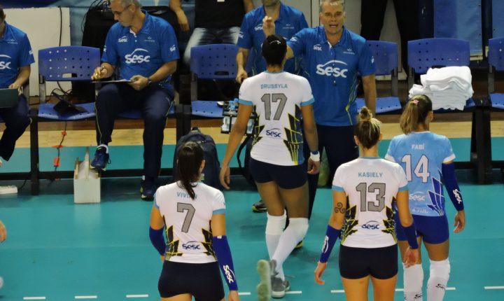Superliga Feminina 2017/2018 – Ouça os momentos finais de Pinheiros 1 x 3 SESC RJ