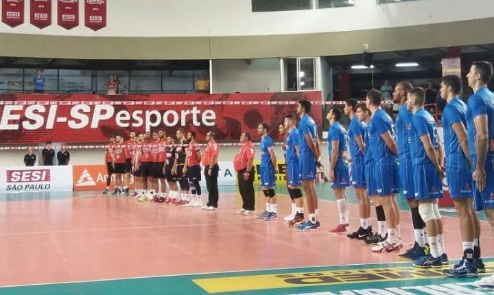 Superliga Masculina 2017-2018: Ouça os momentos finais e as entrevistas pós jogo de SESI-SP 3 x 0 Campinas Vôlei Renata