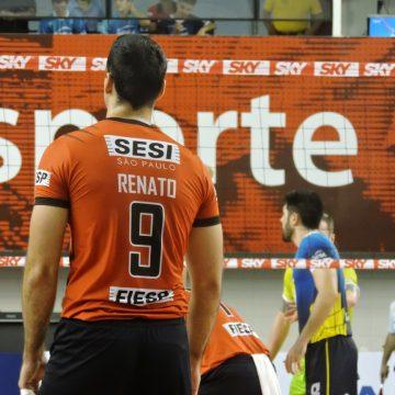 No tie-break, SESI vence primeira partida da semifinal da Superliga Masculina