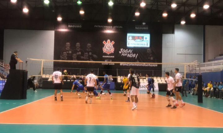 Com apoio da torcida, Corinthians-Guarulhos bate Vôlei Ribeirão pelo Campeonato Paulista