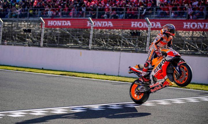 MotoGP: Com queda de Dovizioso, Márquez vence no Japão e conquista o pentacampeonato.