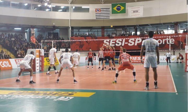 Superliga Masculina – 2018-2019: Ouça os momentos finais e entrevistas de SESI-SP 1×3 Taubaté