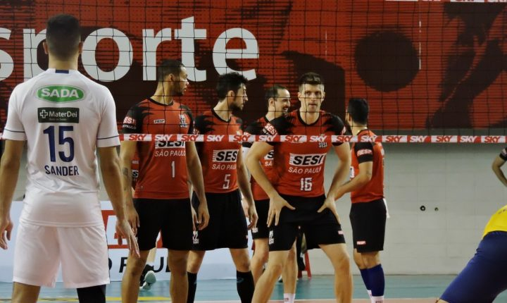 Superliga Masculina – 2018-2019: Ouça os momentos finais e entrevistas de SESI-SP 3 X 2 Sada Cruzeiro