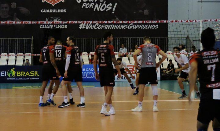 Superliga Masculina – 2018/2019: Ouça os momentos finais e entrevistas de Corinthians Guarulhos e SESI-SP