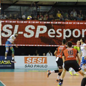 Superliga Masculina – 2018-2019 – Semifinal: Ouça os momentos finais de SESI-SP 3 X 0 SESC-RJ