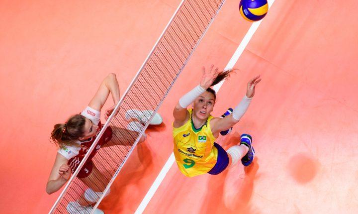 Liga das Nações Feminina: Brasil reage, mas perde para Polônia no tie-break