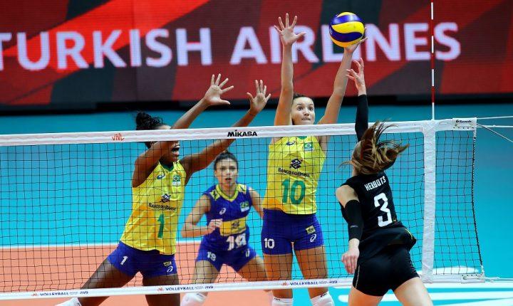 Liga das Nações Feminina: Sem sustos, Brasil vence a sétima seguida