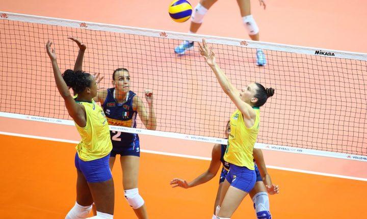 Liga das Nações Feminina: Brasil se impõe e vence a Itália na quinta semana de competição