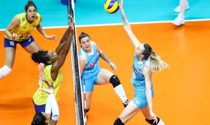 Liga das Nações Feminina: Em jogaço, Turquia bate o Brasil na última rodada da primeira fase