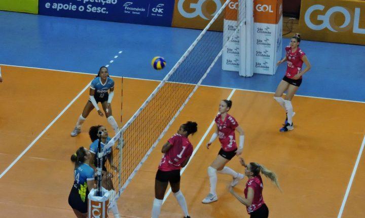 No tie-break, SESC-RJ vence Osasco Audax em clássico pela Superliga Feminina
